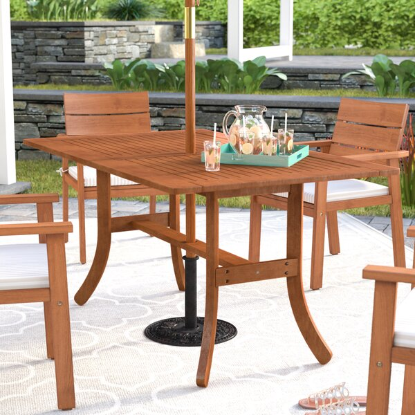 Monterry Solid Wood Dining Table by Beachcrest Home