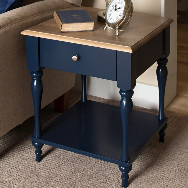 Sophia Wood Top 1 Drawer Nightstand by Kate and Laurel