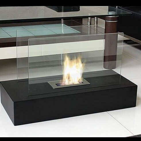 Fiamme Freestanding Bio-Ethanol Indoor Fireplace by Nu-Flame