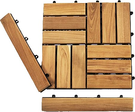 Le Click Teak 1.5 x 1 End Pieces Interlocking in N