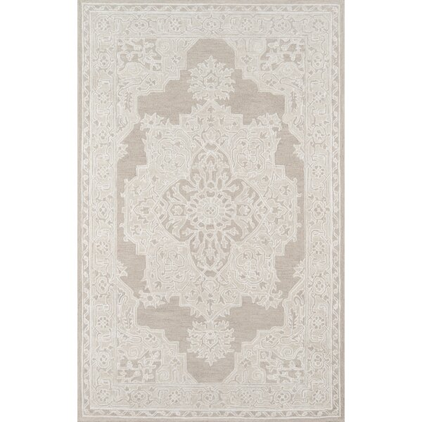 Paisley Hand-Tufted Beige Area Rug by House of Hampton