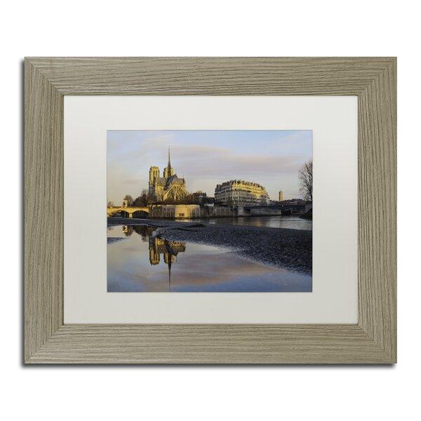 Sunrise in Notre Dame de Paris by Mathieu Rivrin Framed Photographic Print by Trademark Fine Art
