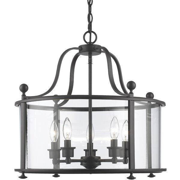 Kristofer 5 - Light Lantern Drum Chandelier by Darby Home Co Darby Home Co