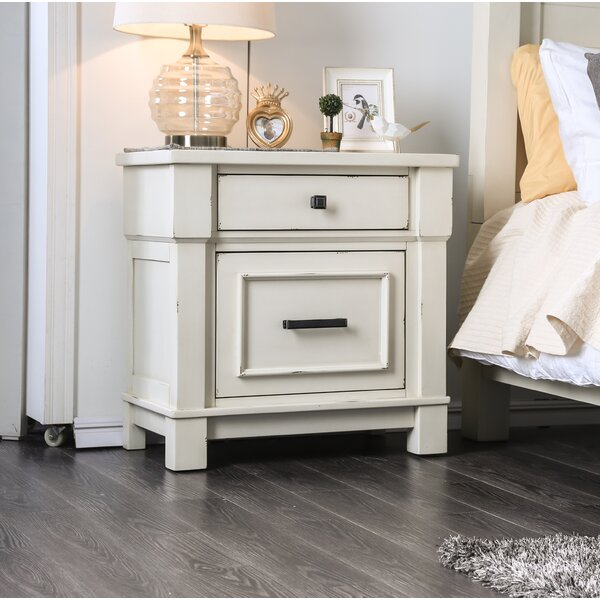 Bruno Mould-Trimmed 2 Drawer Nightstand by Longshore Tides