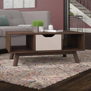 Hilson Mid-Century Modern Wood Coffee Table