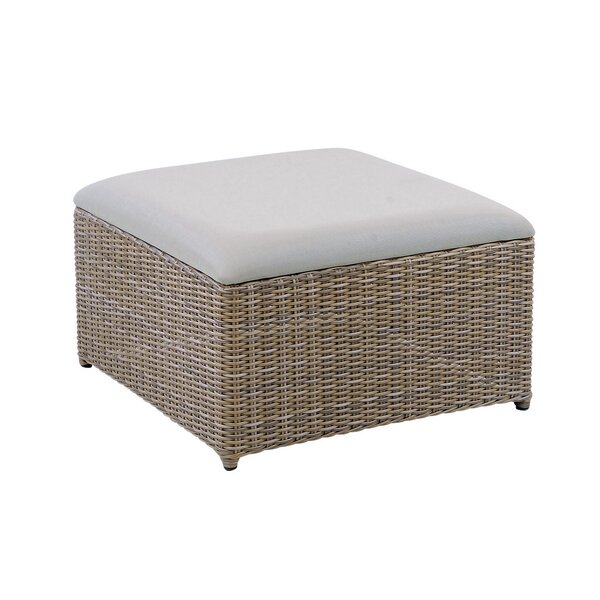 Milano Outdoor Ottoman with Cushion by Kingsley Bate