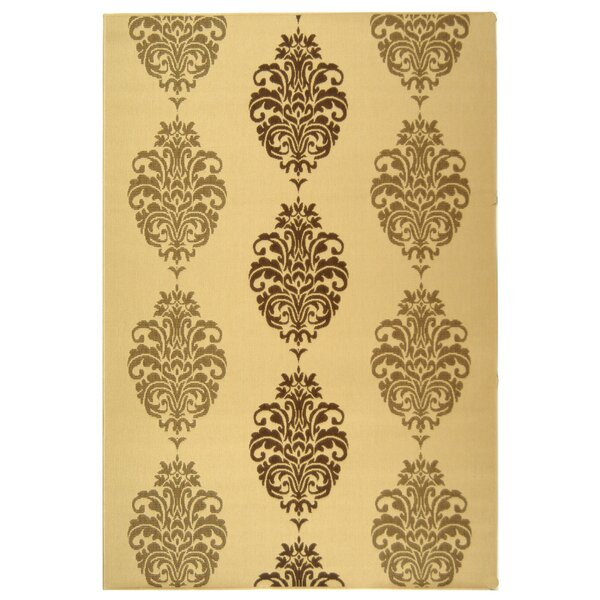 Short Natural/Brown Power Loomed Outdoor Rug by Winston Porter