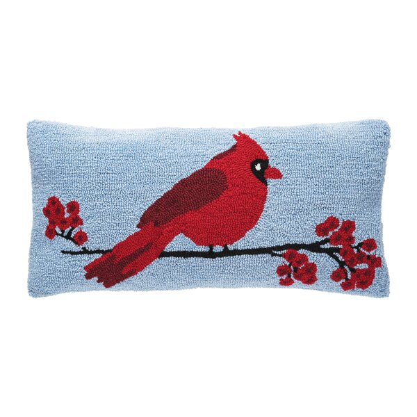 Rosen Cardinal Berry Branch Lumbar Pillow by Charlton Home