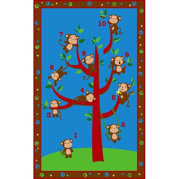 Ten Little Monkeys Area Rug by Kid Carpet
