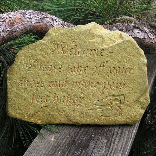 Happy Feet Welcome Stone by Nichols Bros. Stoneworks