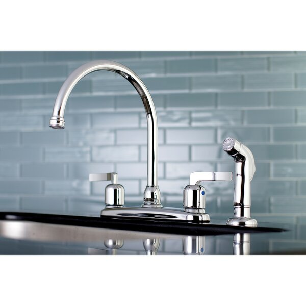 Centurion Centerset Gooseneck Spout Double Handle Kitchen Faucet by Kingston Brass