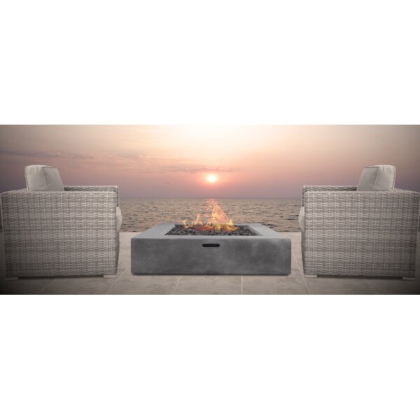 Defino Fire Pit 3 Piece Conversation Set by Orren Ellis