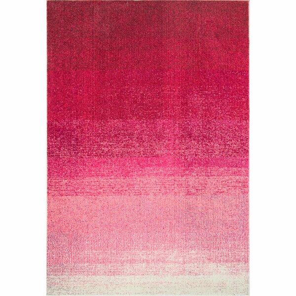 Angelina Striped Pink Area Rug