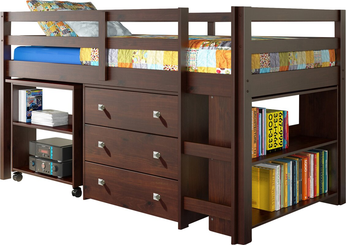 Twin loft bed with storage - Zechariah Twin Low Loft Bed With Storage