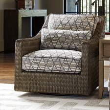 Cypress Point Swivel Armchair and Ottoman by Tommy Bahama Home