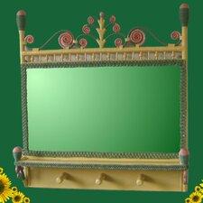 Victorian Coat Rack Mirror by Yesteryear Wicker