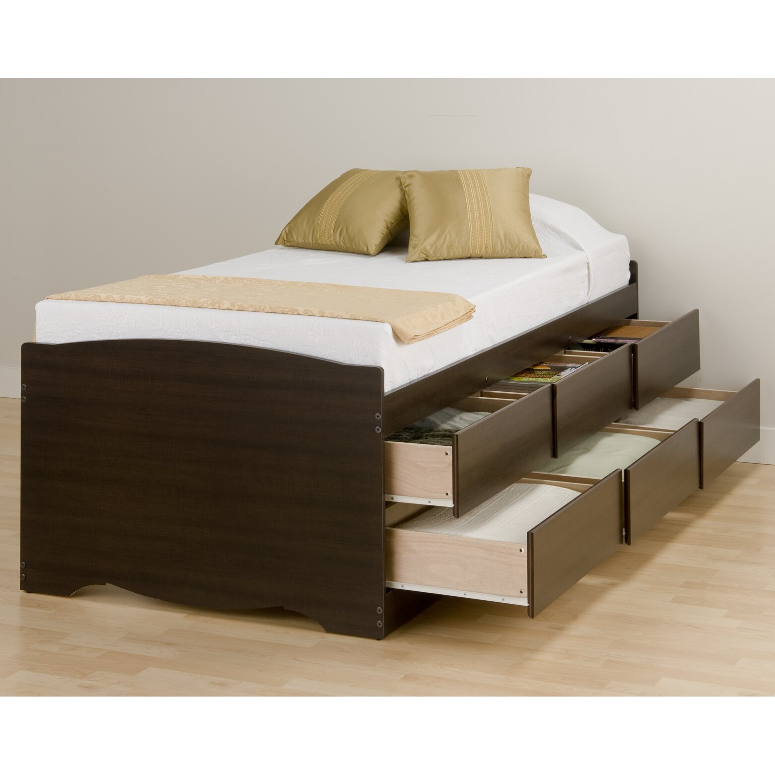Twin platform beds with storage - Latitude Run Wanda Twin Platform Bed With Storage Reviews Wayfair