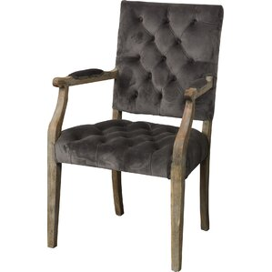 Courtney Tufted Velvet Arm Chair