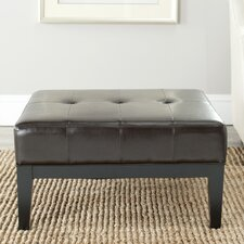 Fulton Leather Ottoman by Safavieh
