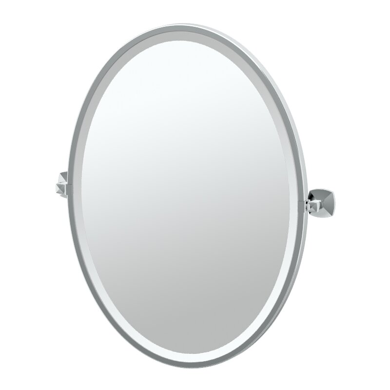 Gatco jewel framed oval mirror reviews for Oval mirror canada
