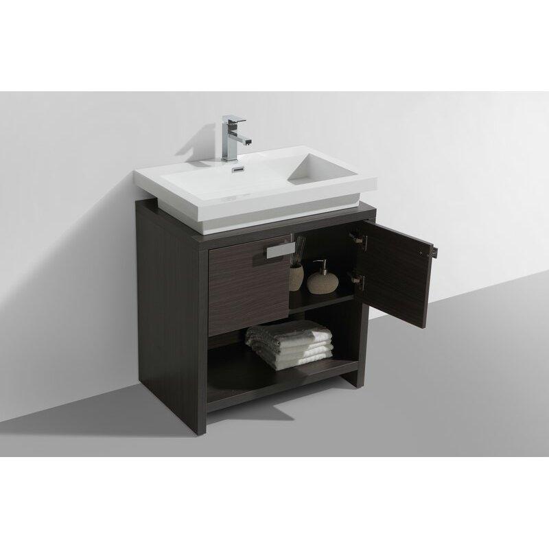 kube bath levi 29 5 single modern bathroom vanity set
