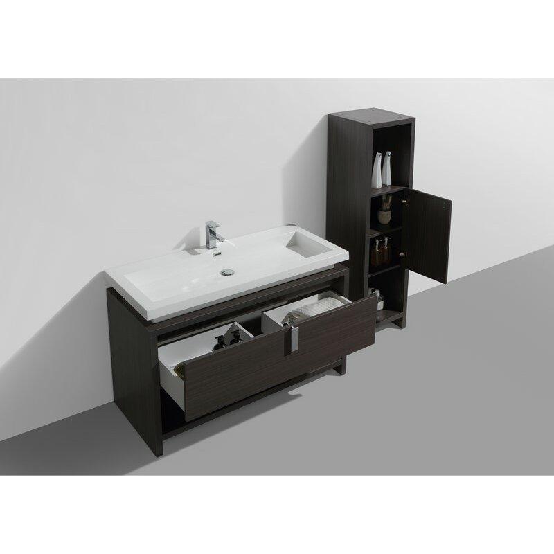 Kube Bath Levi Single Modern Bathroom Vanity Set Reviews Wayfair