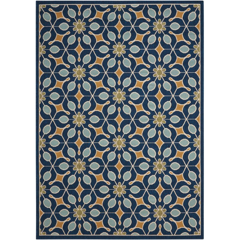 Lewis Navy Indoor Outdoor Area Rug & Reviews