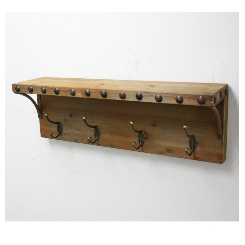 Fetco Home Decor Debary Ledge Wall Mounted Coat Rack