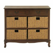 2 Drawer Wood Seagrass Dresser by Cole & Grey