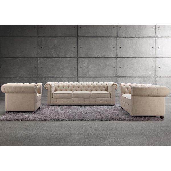 Mulhouse Furniture Garcia 3 Piece Living Room Set & Reviews | Wayfair