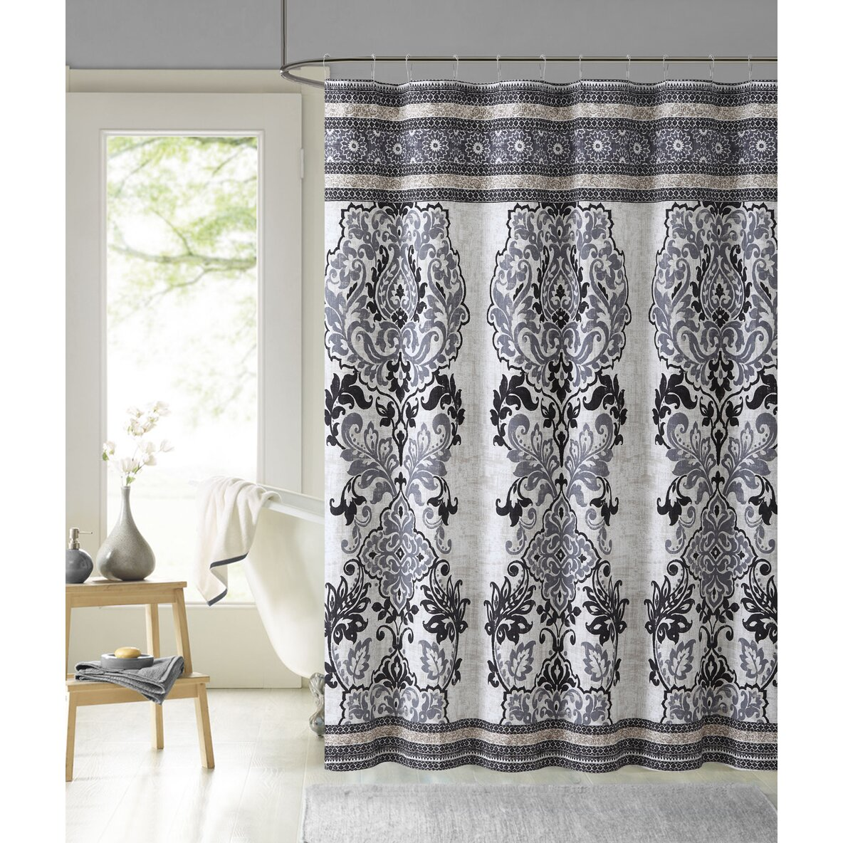 vcny mariah cotton shower curtain reviews wayfair