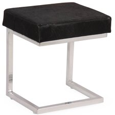 Cow Hide Covered Stool with Stand by Foreign Affairs Home Decor
