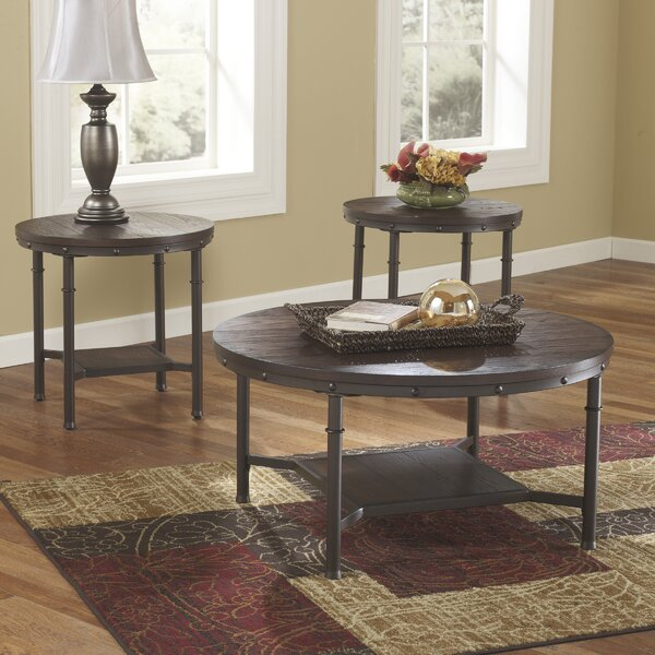 loon peak blake 3 piece coffee table set & reviews | wayfair