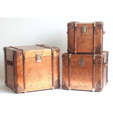 3 Piece Copper Trunk Set by Zaer Ltd International