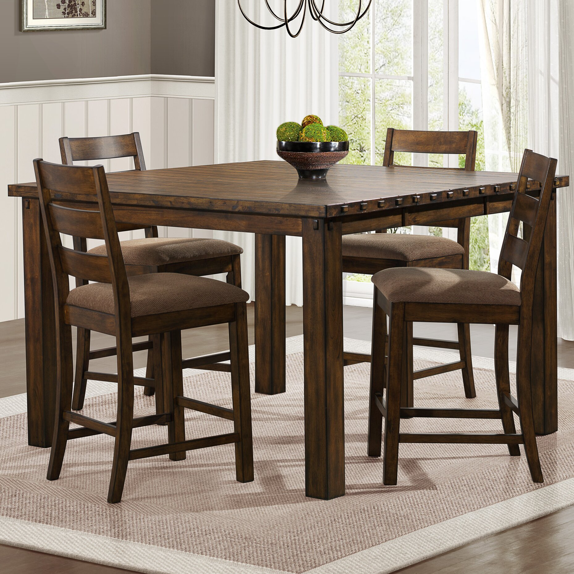 Woodhaven hill ronan counter height extendable dining for Counter height extendable dining table