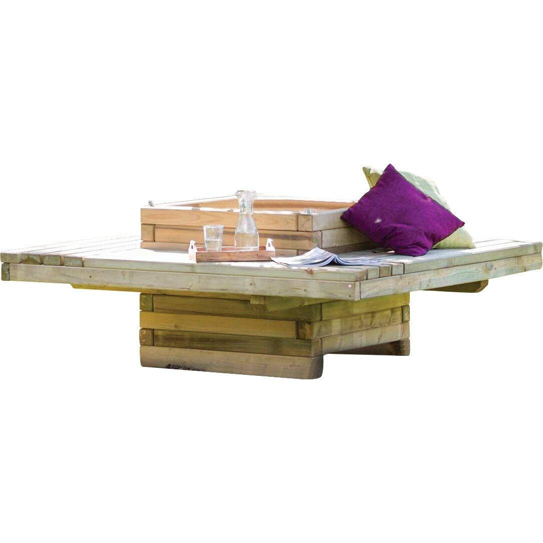 home haus eckige baumbank lucy aus holz. Black Bedroom Furniture Sets. Home Design Ideas
