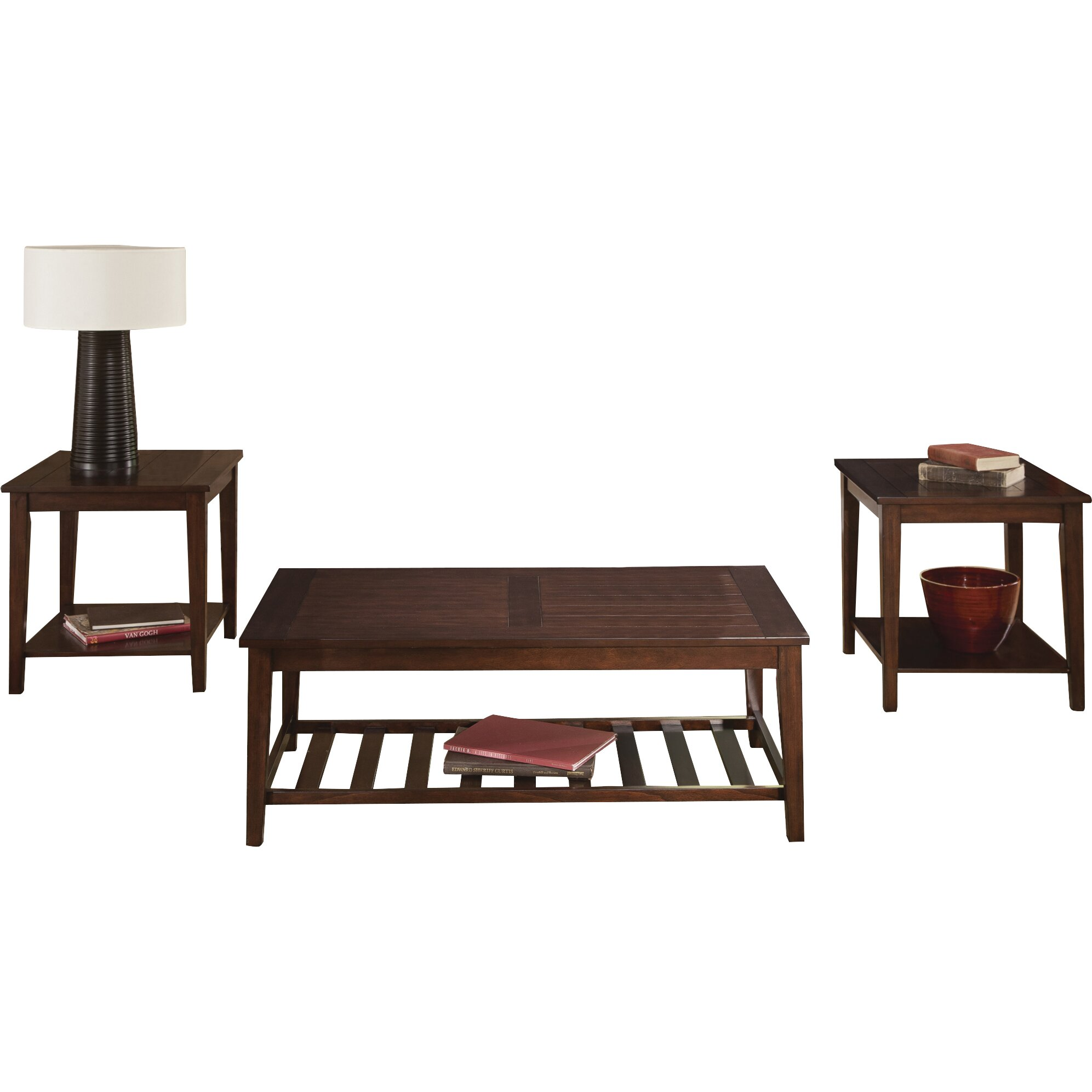 Wildon home missoula occasional 3 piece coffee table set for Regulation 85 table a
