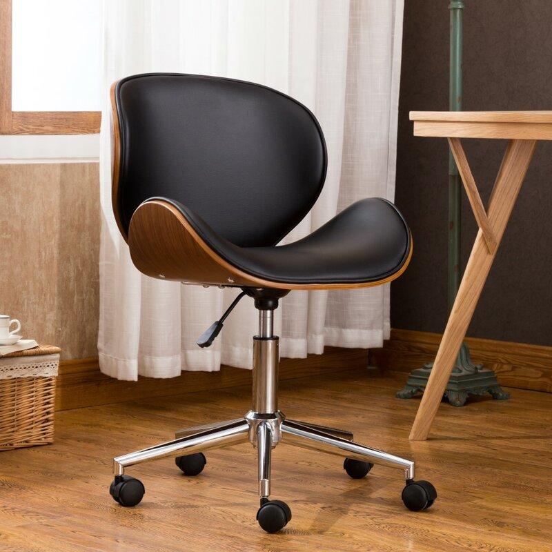 George Oliver Bradford Adjustable Office Low Back Drafting Chair
