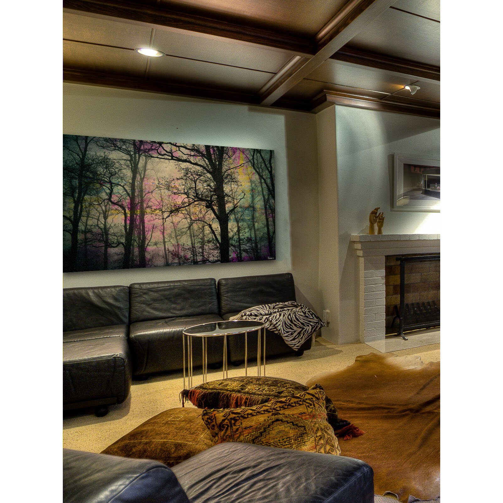 39night sight39 by parvez taj painting print on wrapped for Best brand of paint for kitchen cabinets with wall art set of 5
