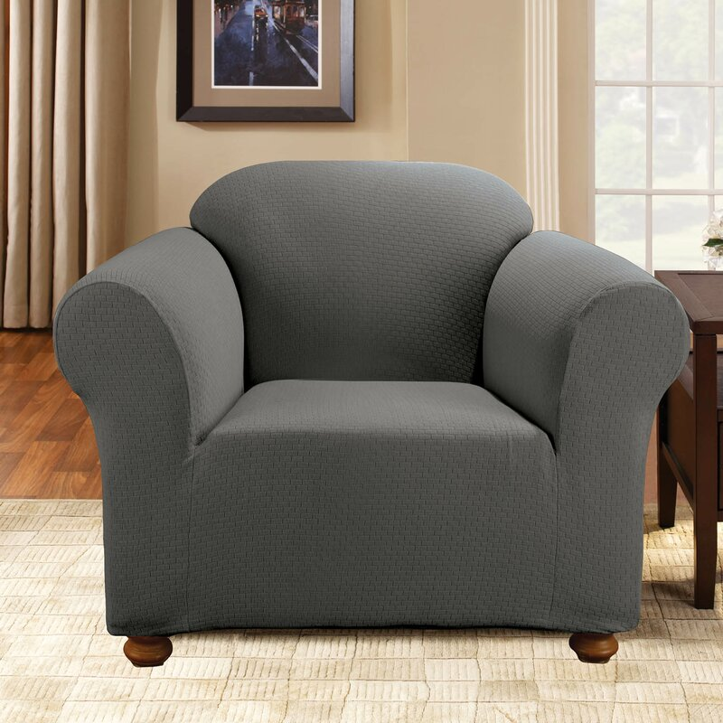Sure Fit Simple Stretch Subway Armchair Slipcover