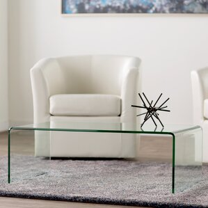 clear coffee tables you'll love   wayfair