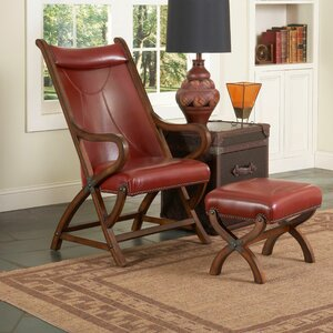 Hunter Lounge Chair and Ottoman by Largo