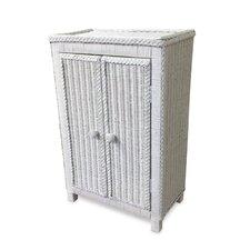 Free Standing Wicker Cabinet by ElanaMar Designs