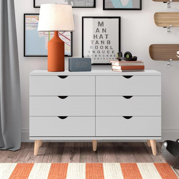 Bowie 6 Drawer Double Dresser By Trule Teen by Trule Teen Find