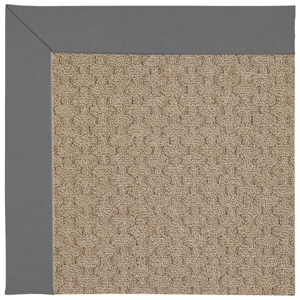 Lisle Machine Tufted Ash Indoor/Outdoor Area Rug by Longshore Tides