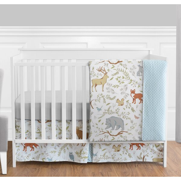 Woodland Toile 4 Piece Crib Bedding Set by Sweet Jojo Designs