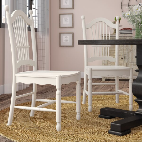 Pimentel Solid Wood Dining Chair (Set of 2) by August Grove