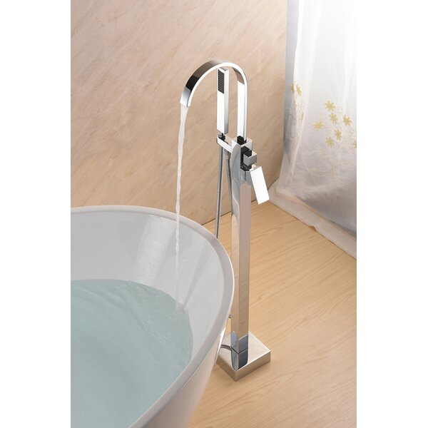 SevenFalls Single Handle Floor Mounted Freestanding Tub Filler with Handshower by Eisen Home Eisen Home