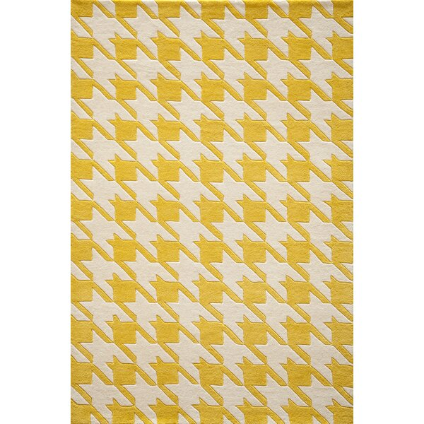 Wehmeyer Hand-Tufted Yellow Area Rug by George Oliver