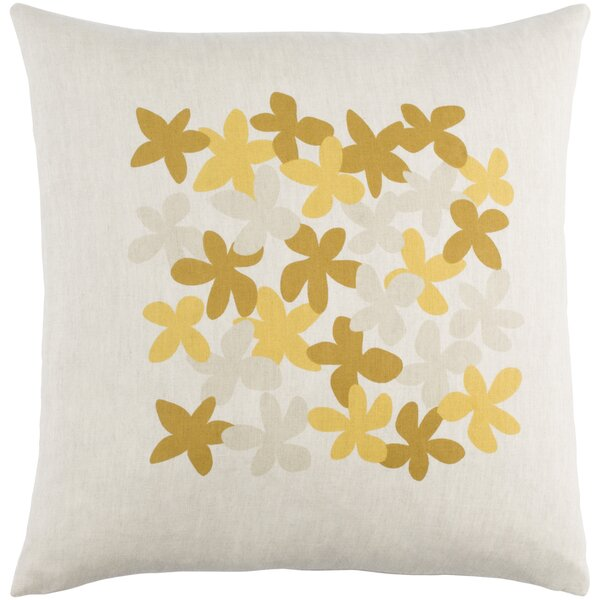 Flying Colors Little Flower Linen Throw Pillow by emma at home by Emma Gardner
